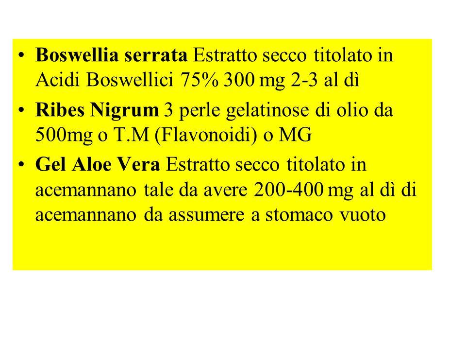 Boswellia serrata Estratto secco titolato in Acidi Boswellici 75% 300 mg 2-3 al dì