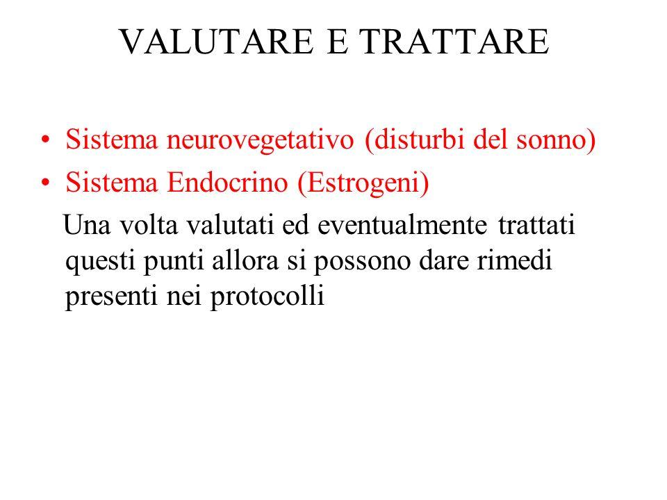 VALUTARE E TRATTARE Sistema neurovegetativo (disturbi del sonno)