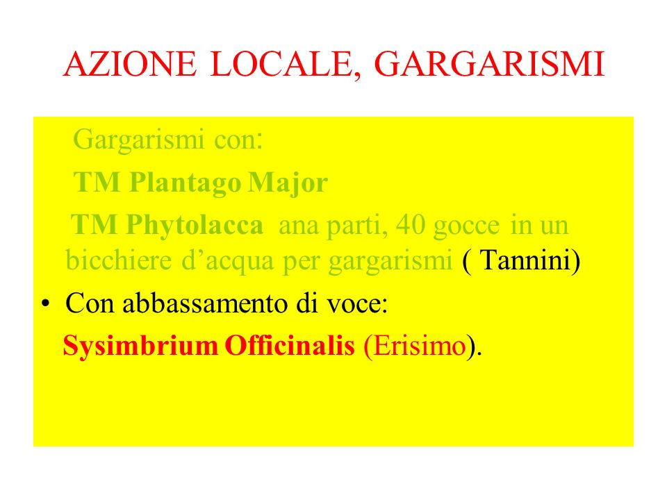 AZIONE LOCALE, GARGARISMI