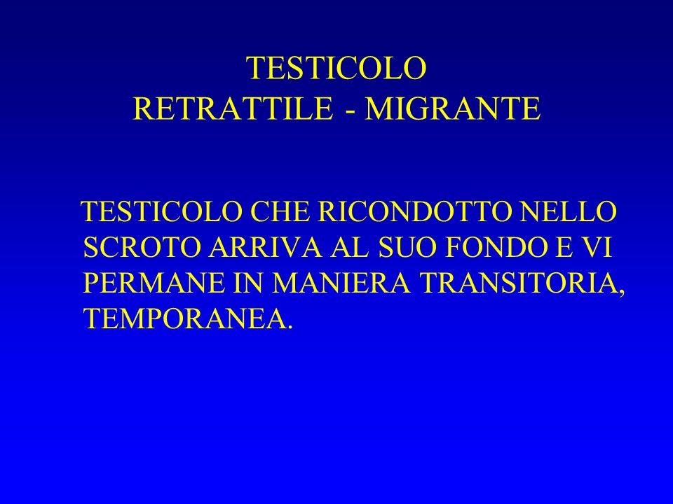 TESTICOLO RETRATTILE - MIGRANTE