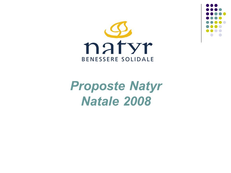 Proposte Natyr Natale 2008