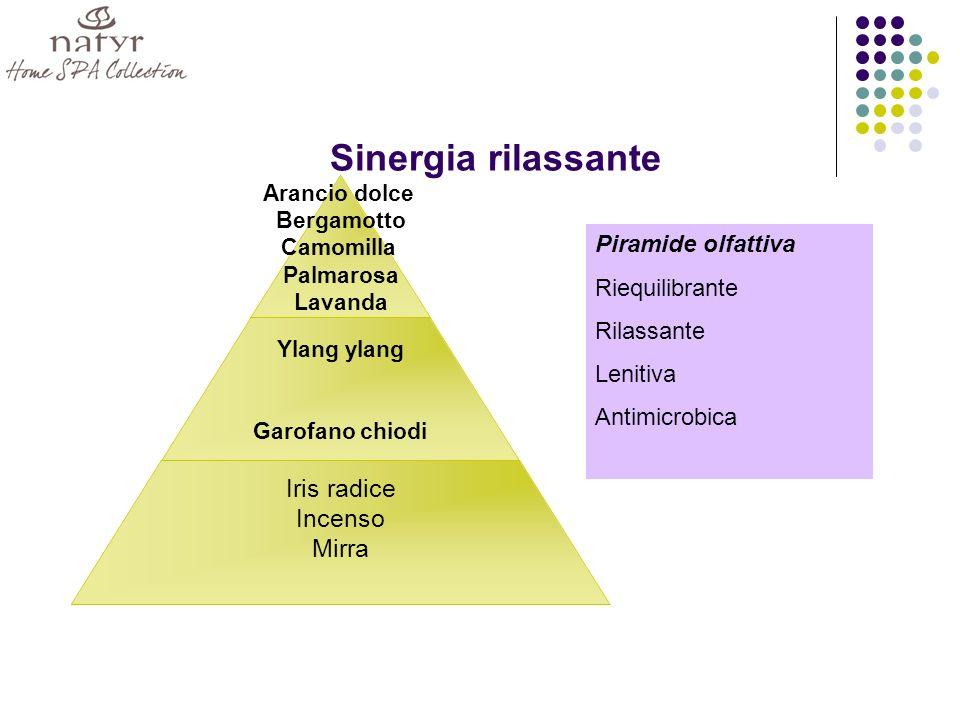 Sinergia rilassante Piramide olfattiva Riequilibrante Rilassante
