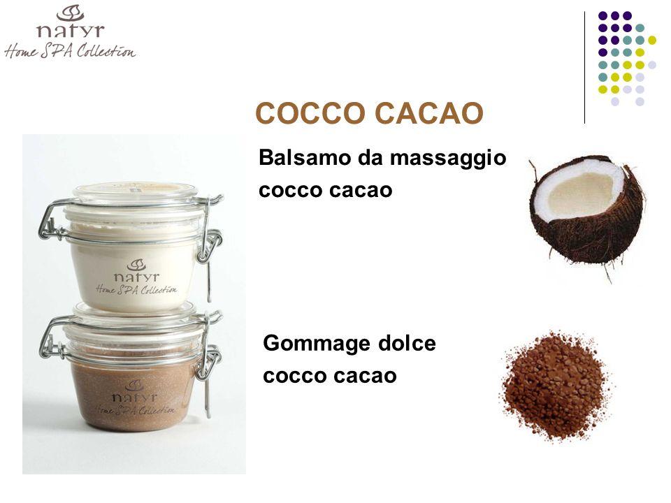 COCCO CACAO Balsamo da massaggio cocco cacao Gommage dolce cocco cacao
