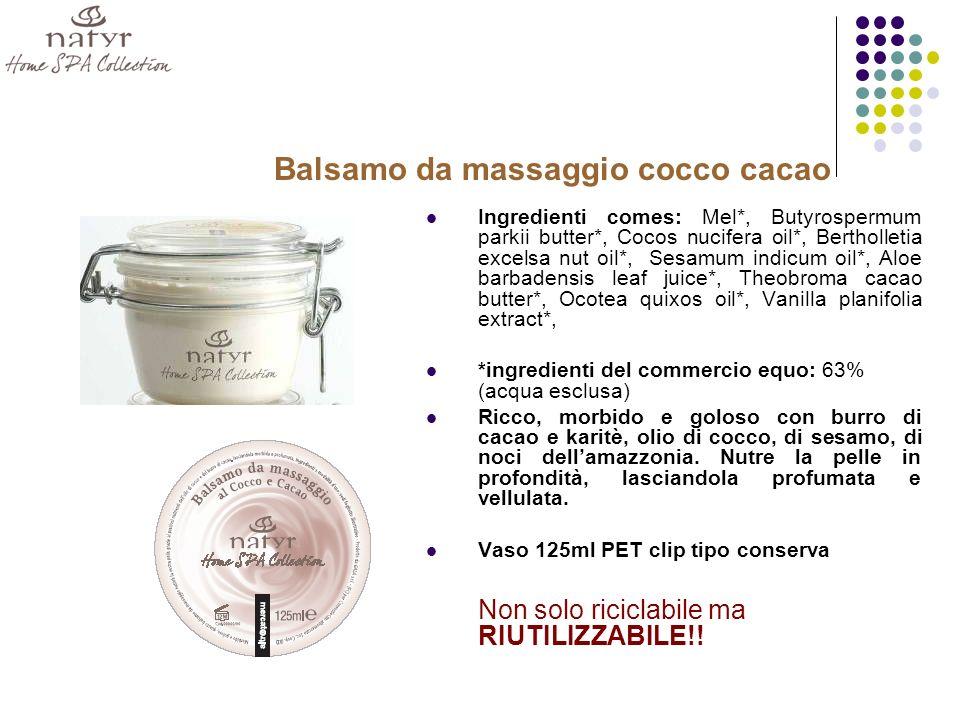 Balsamo da massaggio cocco cacao