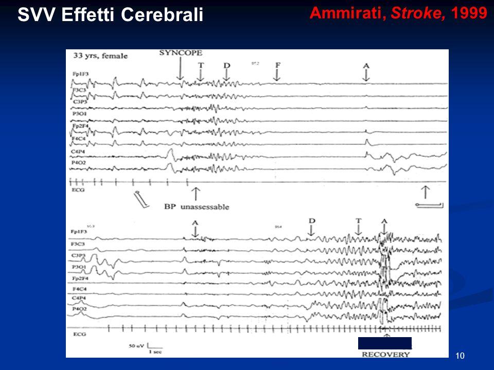 SVV Effetti Cerebrali Ammirati, Stroke, 1999