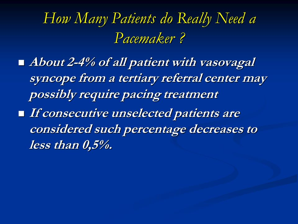 How Many Patients do Really Need a Pacemaker