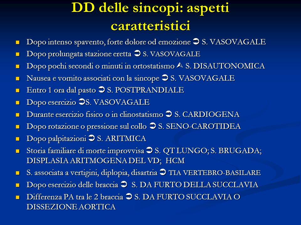 DD delle sincopi: aspetti caratteristici