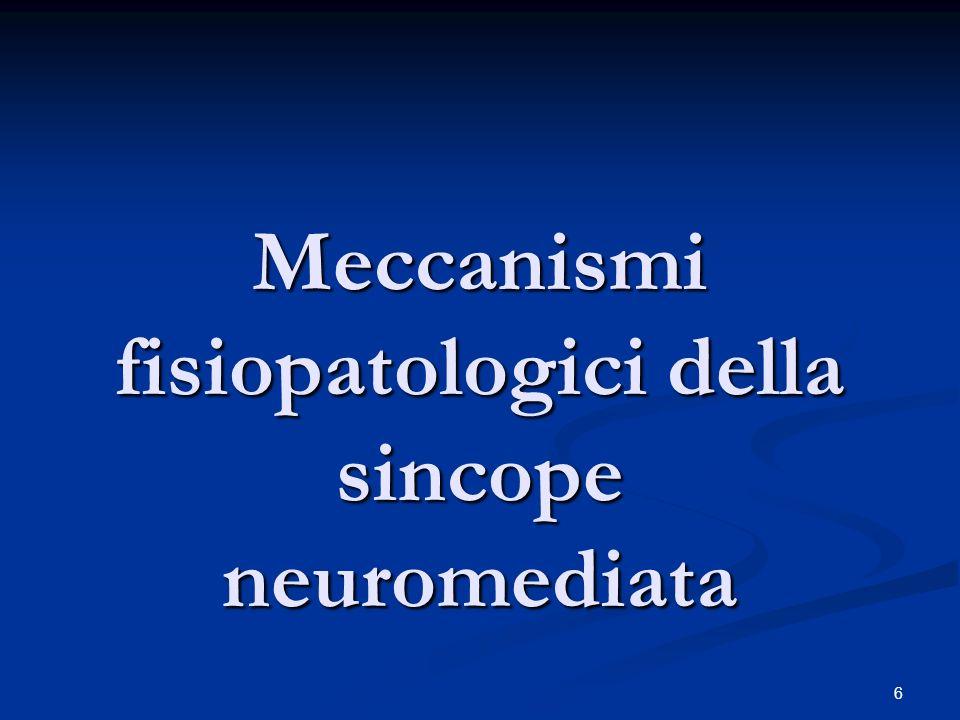 Meccanismi fisiopatologici della sincope neuromediata