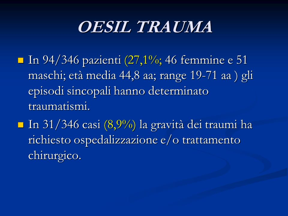 OESIL TRAUMA