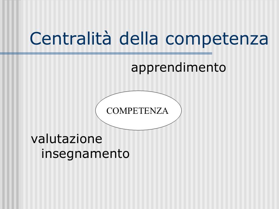 Centralità della competenza
