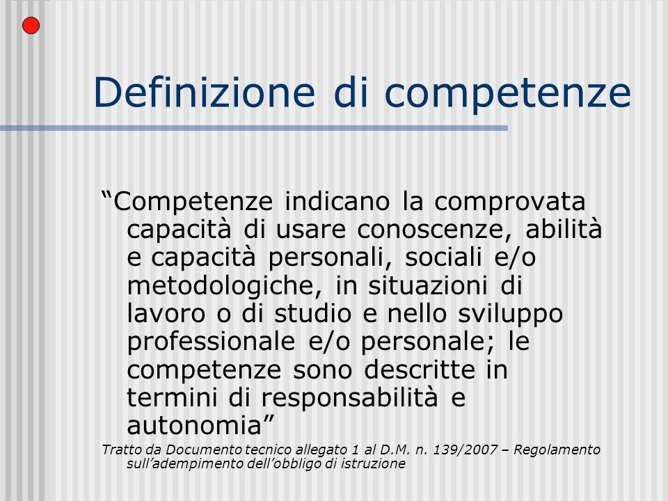 Definizione di competenze