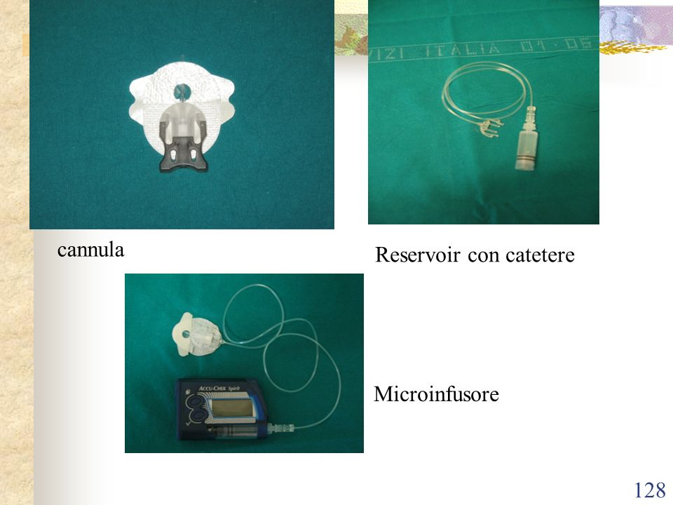 cannula Reservoir con catetere Microinfusore