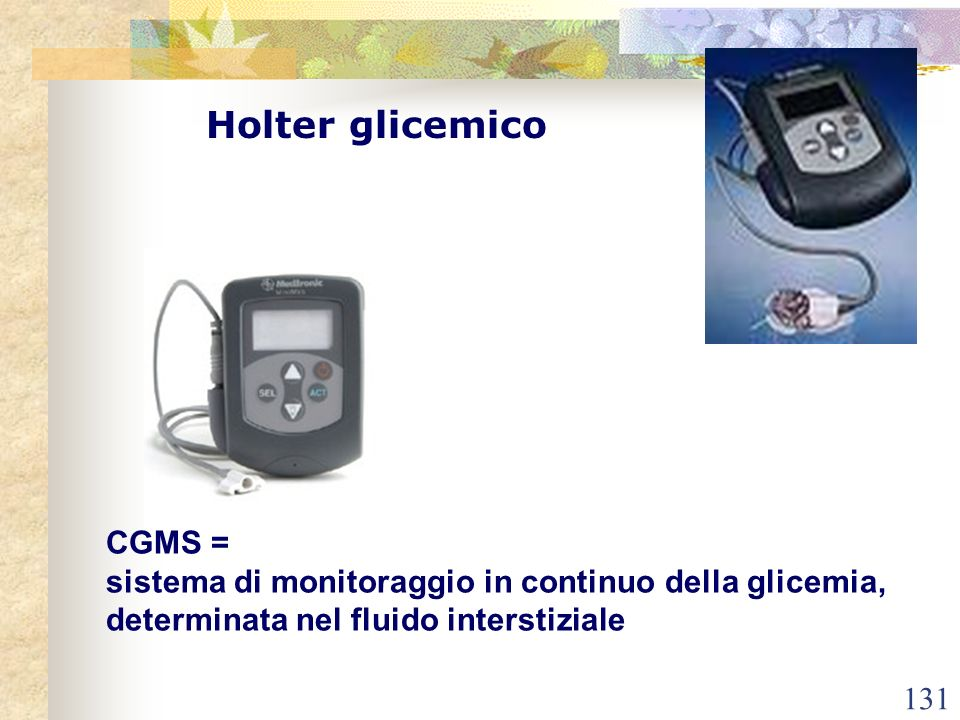 Holter glicemico CGMS =