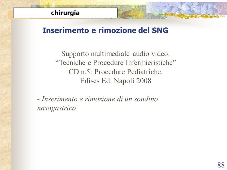 Inserimento e rimozione del SNG