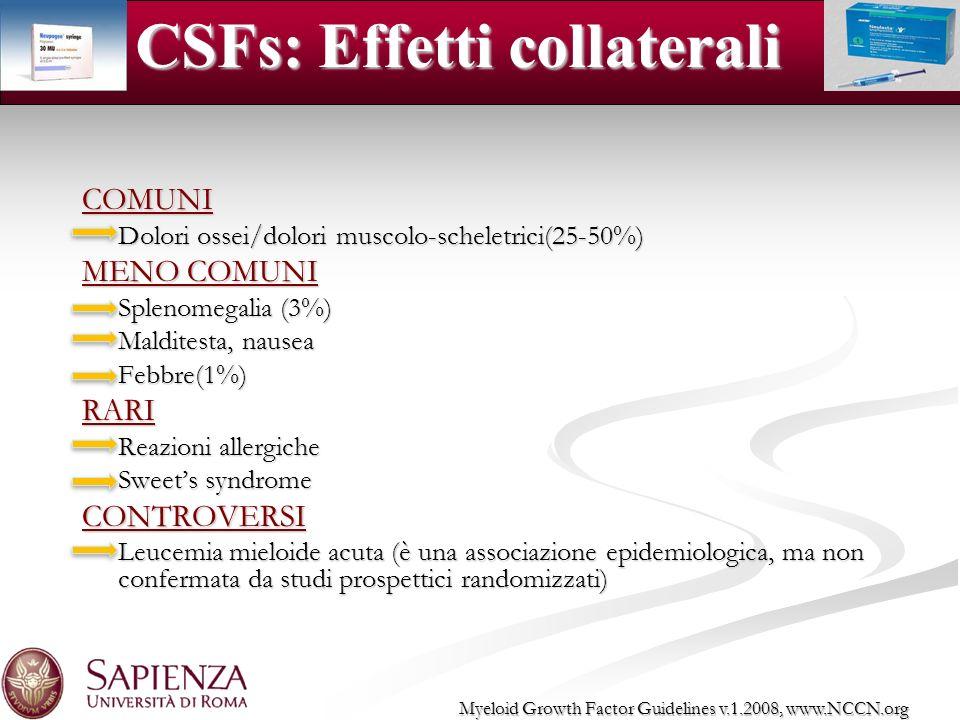 CSFs: Effetti collaterali