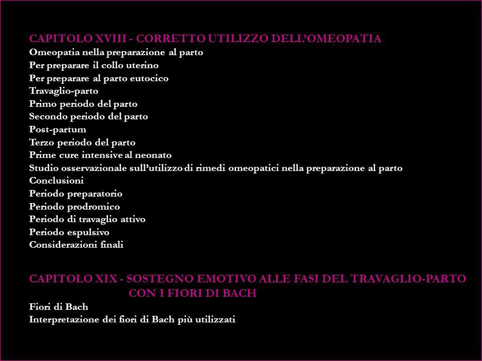 CAPITOLO XVIII - CORRETTO UTILIZZO DELL'OMEOPATIA