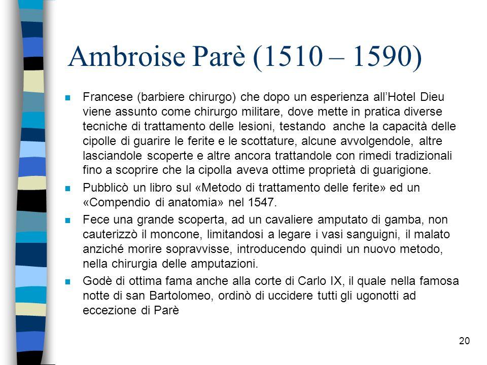 Ambroise Parè (1510 – 1590)