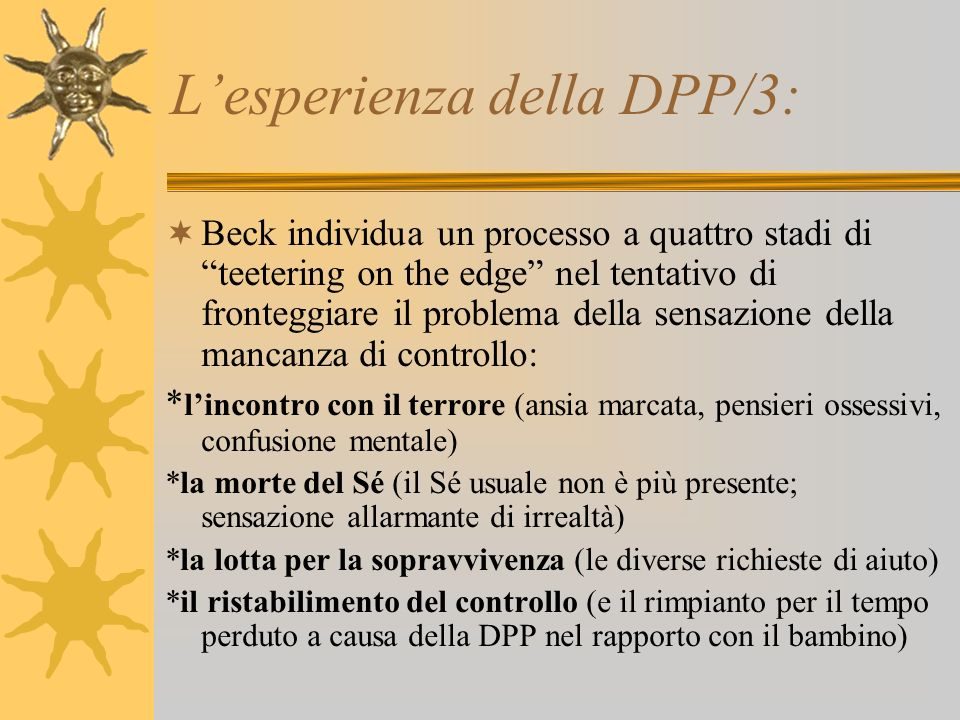 L'esperienza della DPP/3:
