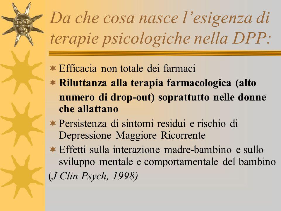Da che cosa nasce l'esigenza di terapie psicologiche nella DPP: