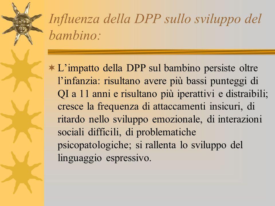 Influenza della DPP sullo sviluppo del bambino: