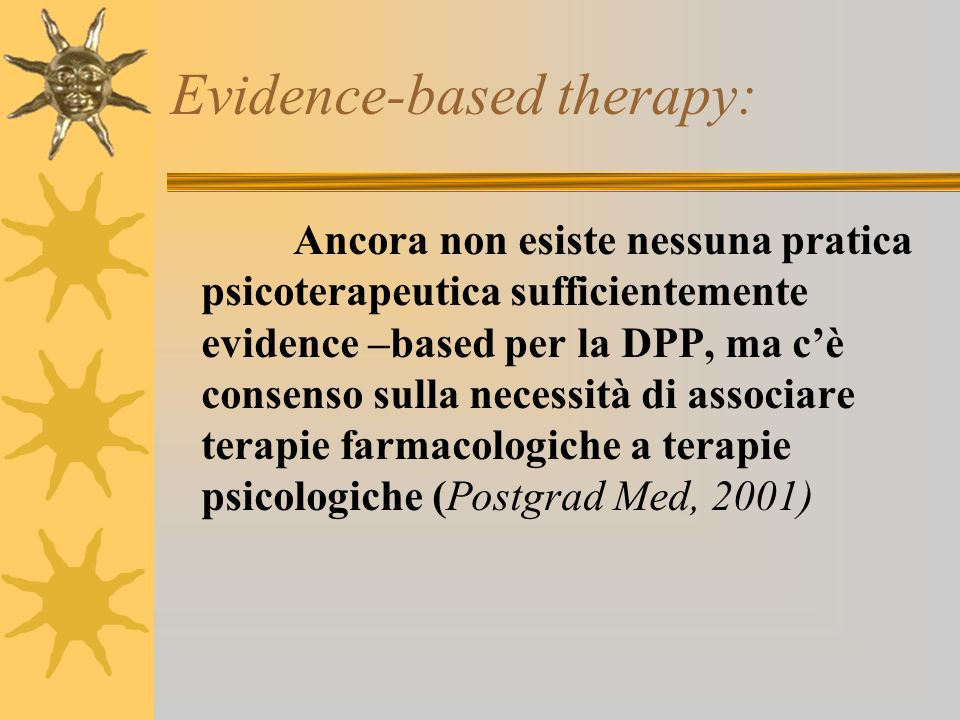 Evidence-based therapy: