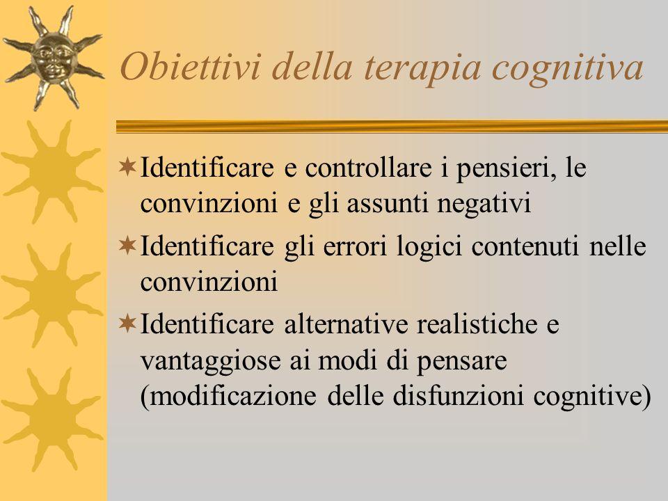 Obiettivi della terapia cognitiva