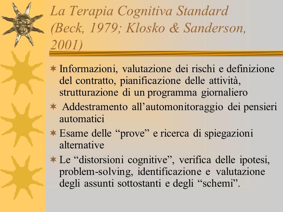 La Terapia Cognitiva Standard (Beck, 1979; Klosko & Sanderson, 2001)