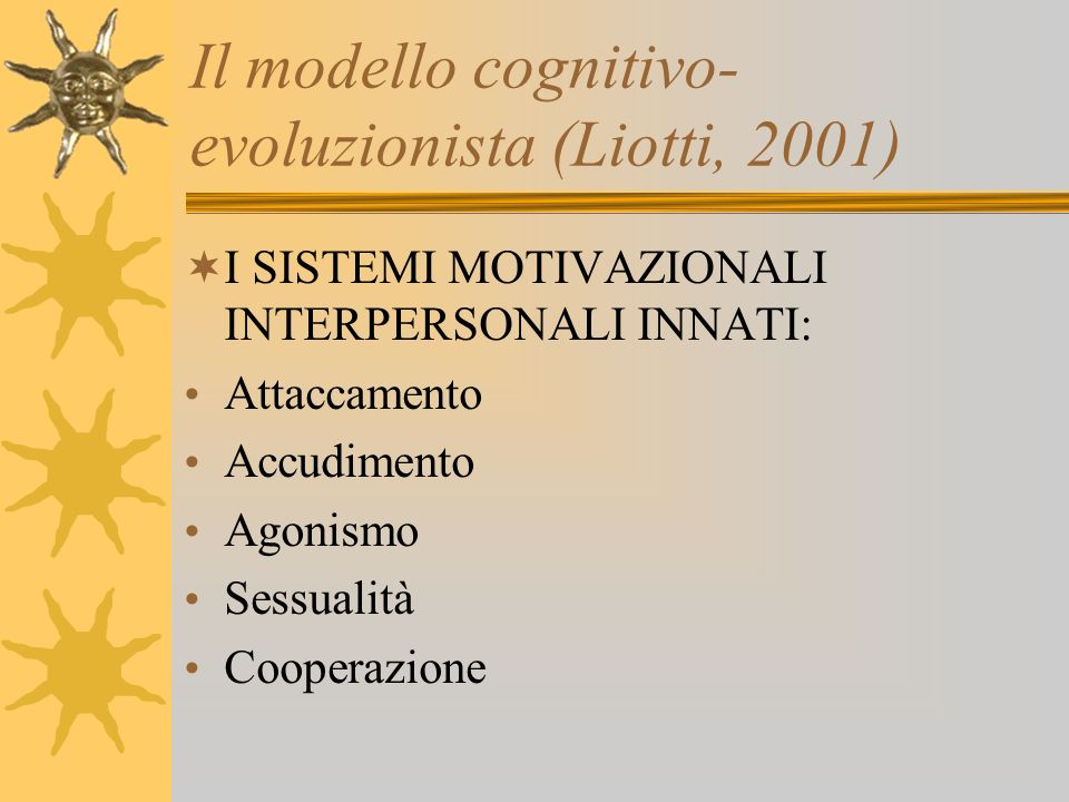 Il modello cognitivo-evoluzionista (Liotti, 2001)