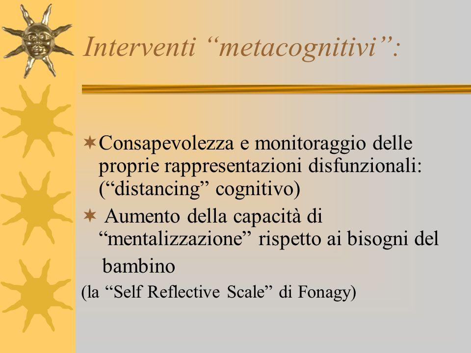 Interventi metacognitivi :