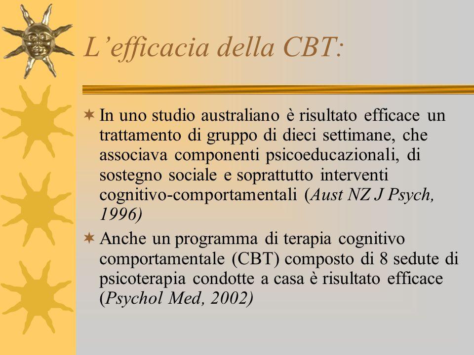 L'efficacia della CBT: