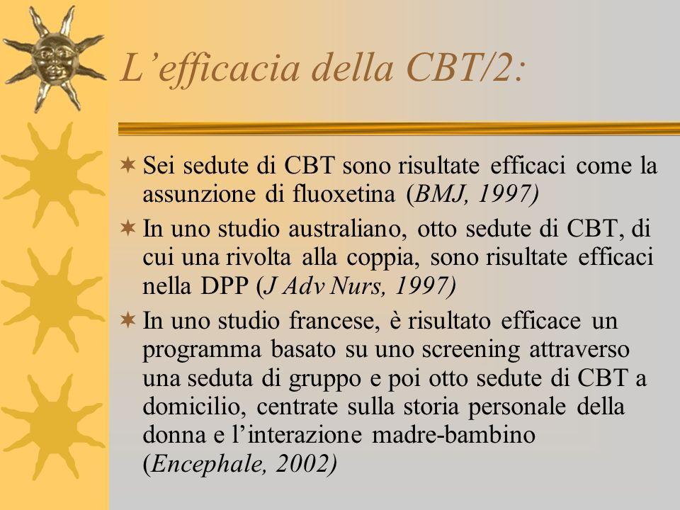 L'efficacia della CBT/2: