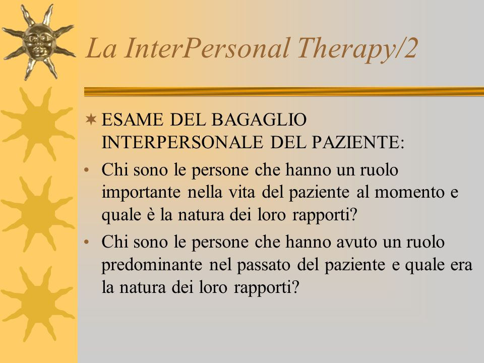 La InterPersonal Therapy/2