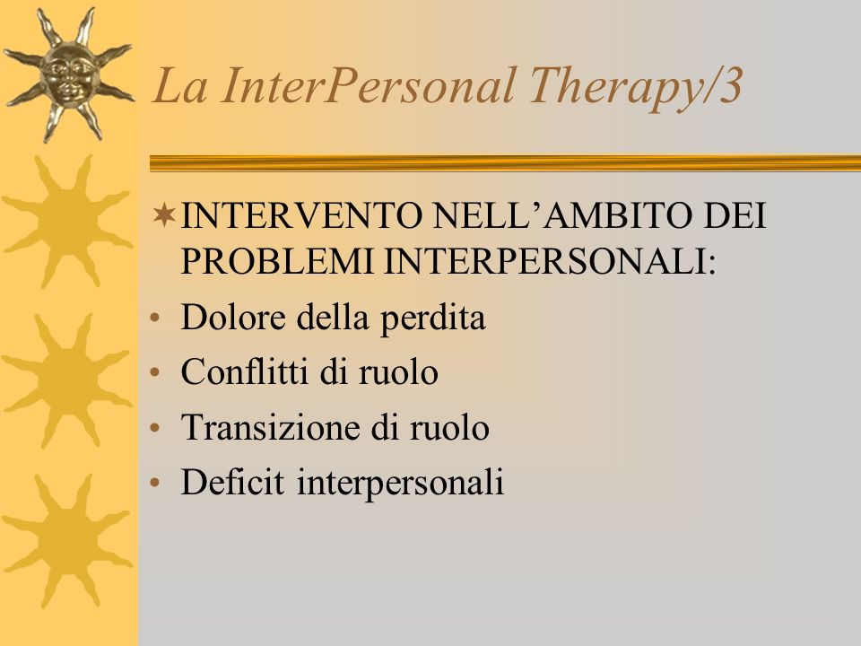 La InterPersonal Therapy/3