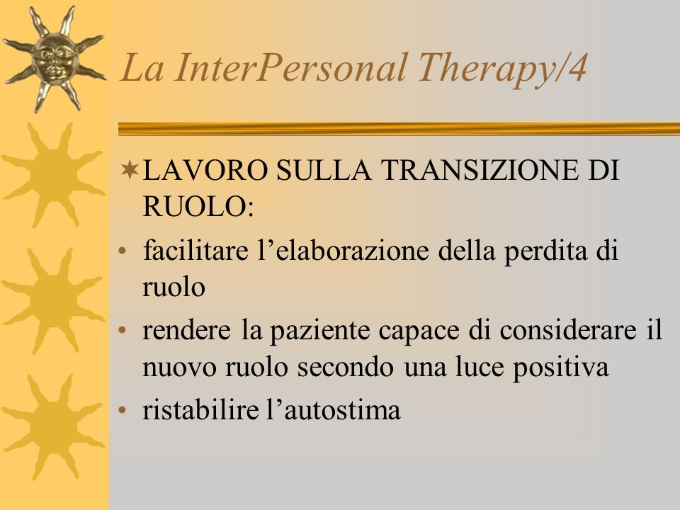 La InterPersonal Therapy/4