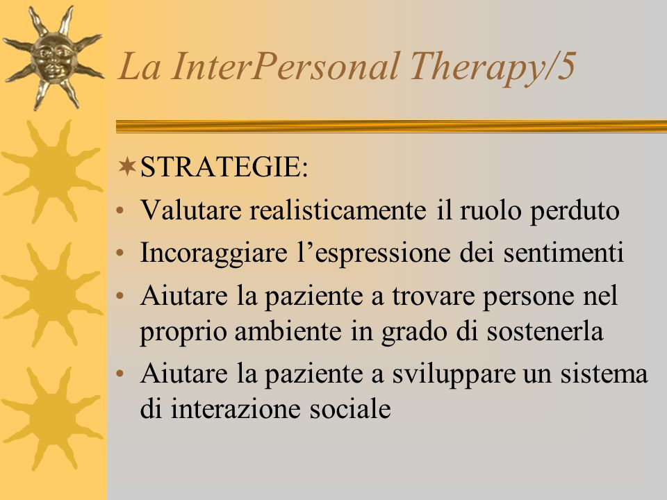 La InterPersonal Therapy/5