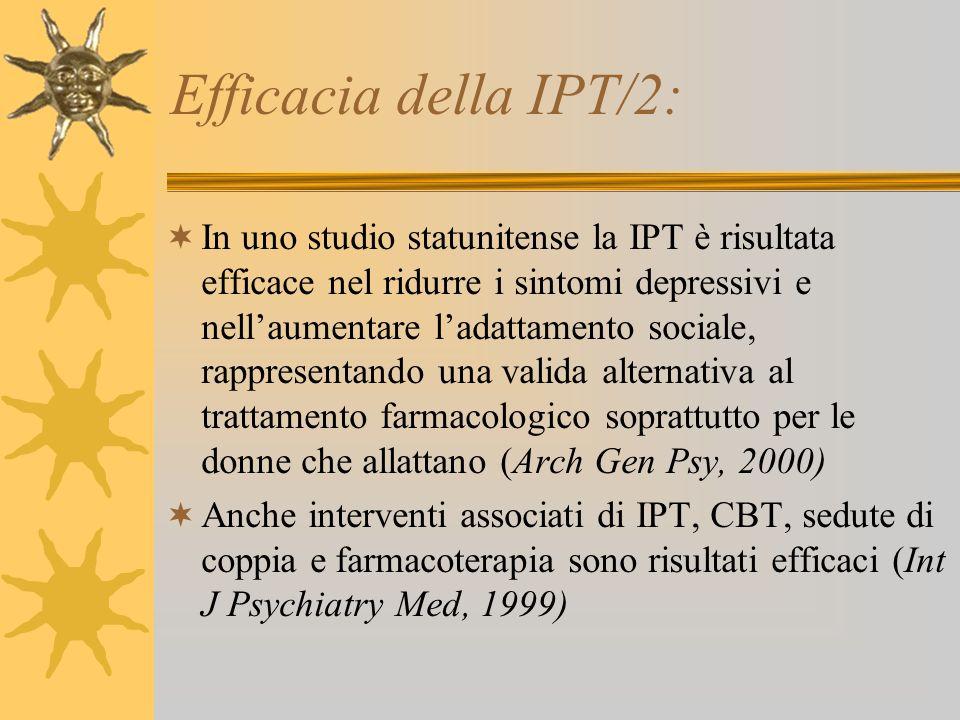 Efficacia della IPT/2: