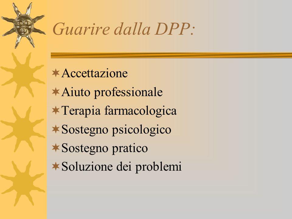 Guarire dalla DPP: Accettazione Aiuto professionale