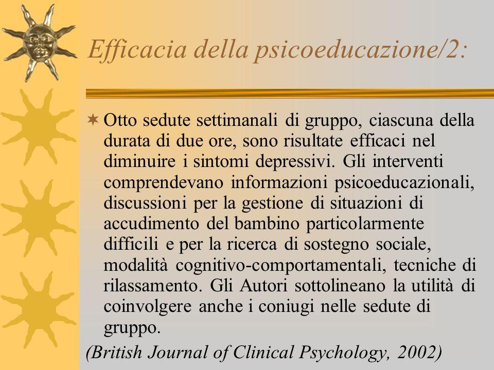 Efficacia della psicoeducazione/2: