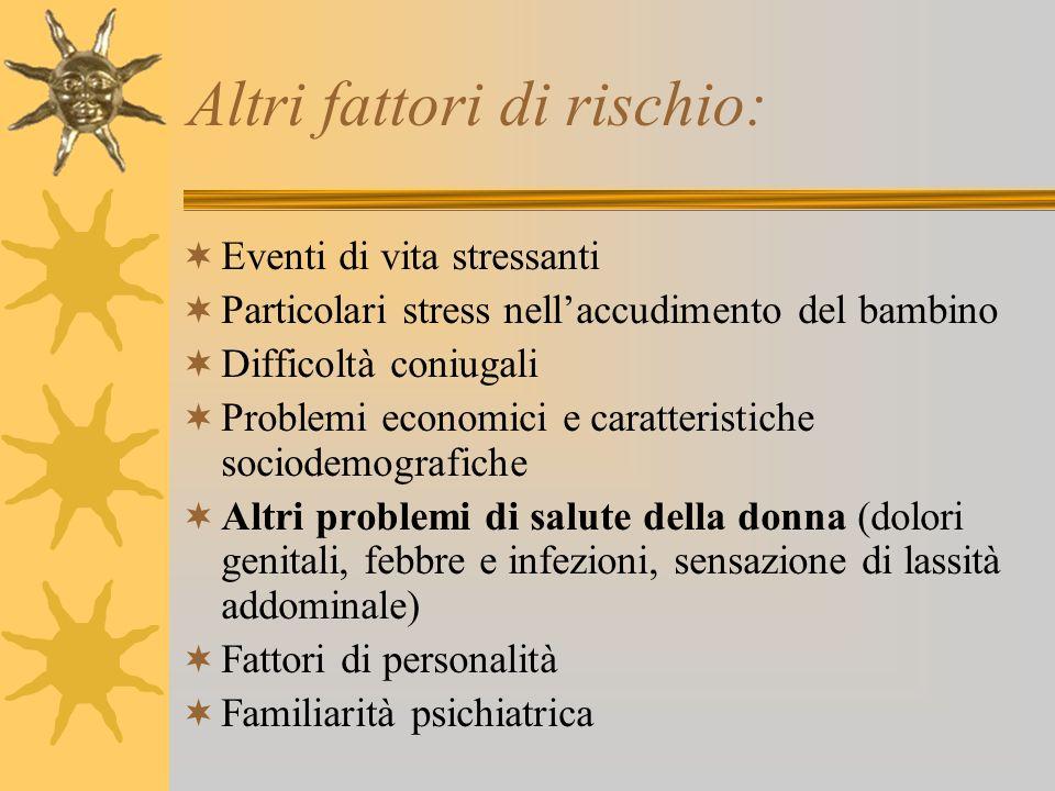 Altri fattori di rischio: