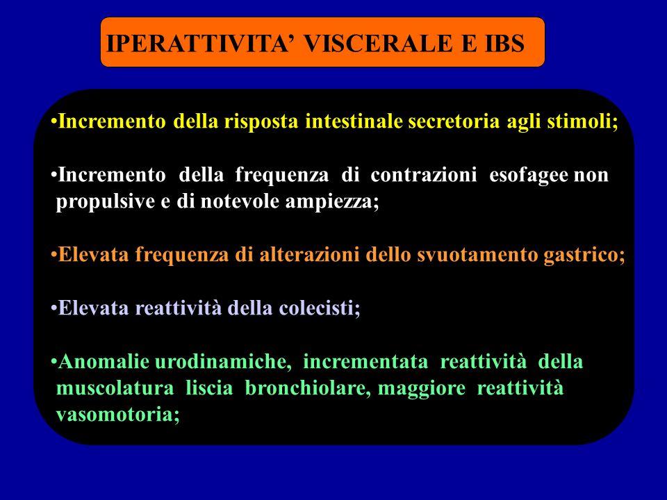 IPERATTIVITA' VISCERALE E IBS