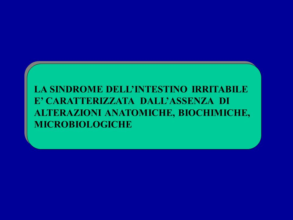 LA SINDROME DELL'INTESTINO IRRITABILE