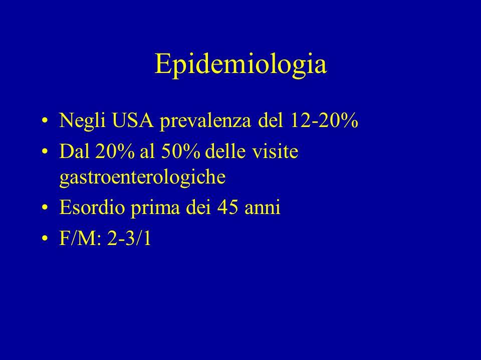 Epidemiologia Negli USA prevalenza del 12-20%