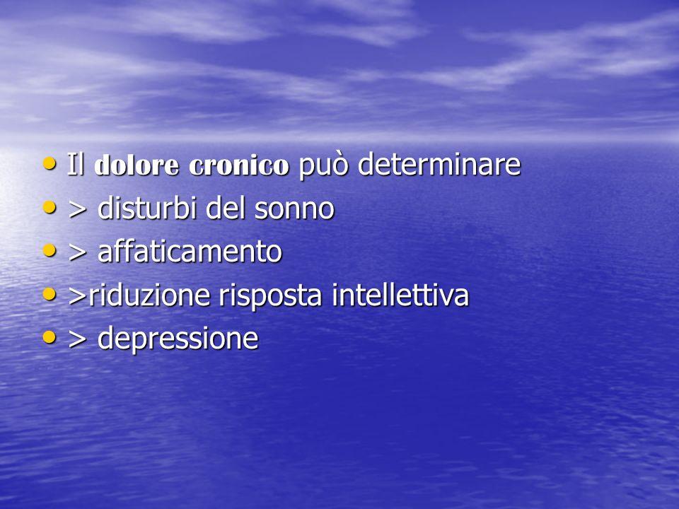 Il dolore cronico può determinare