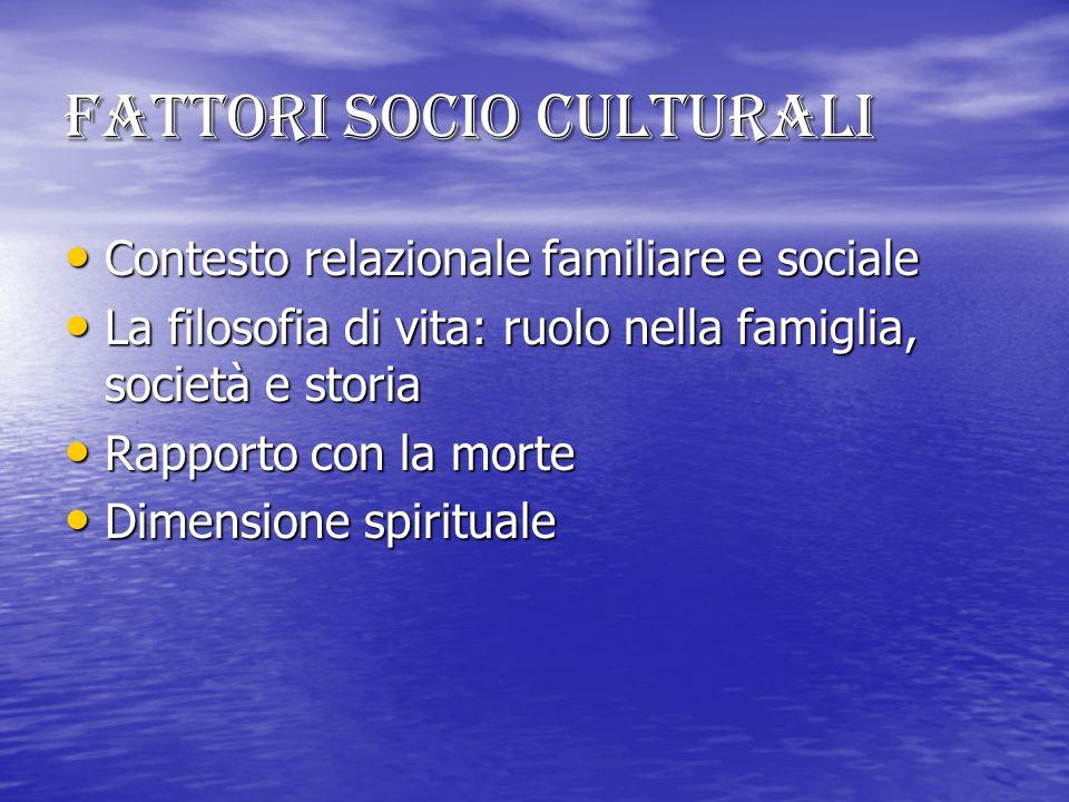 Fattori socio culturali