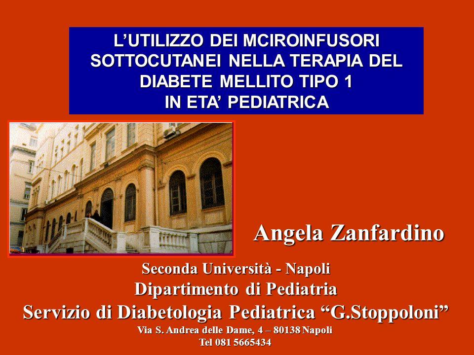 Angela Zanfardino Servizio di Diabetologia Pediatrica G.Stoppoloni