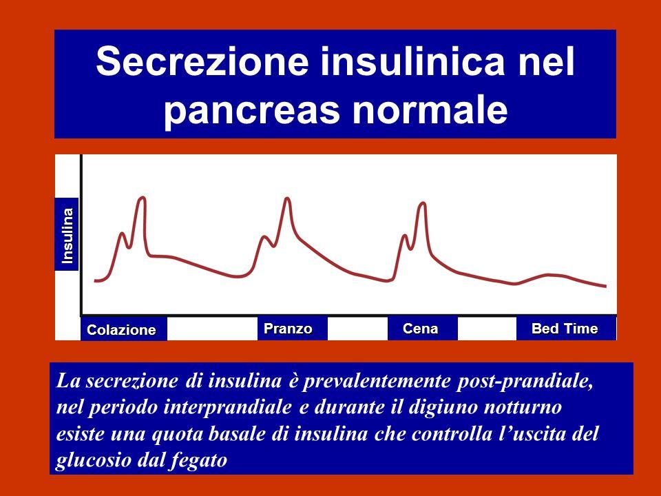 Secrezione insulinica nel pancreas normale