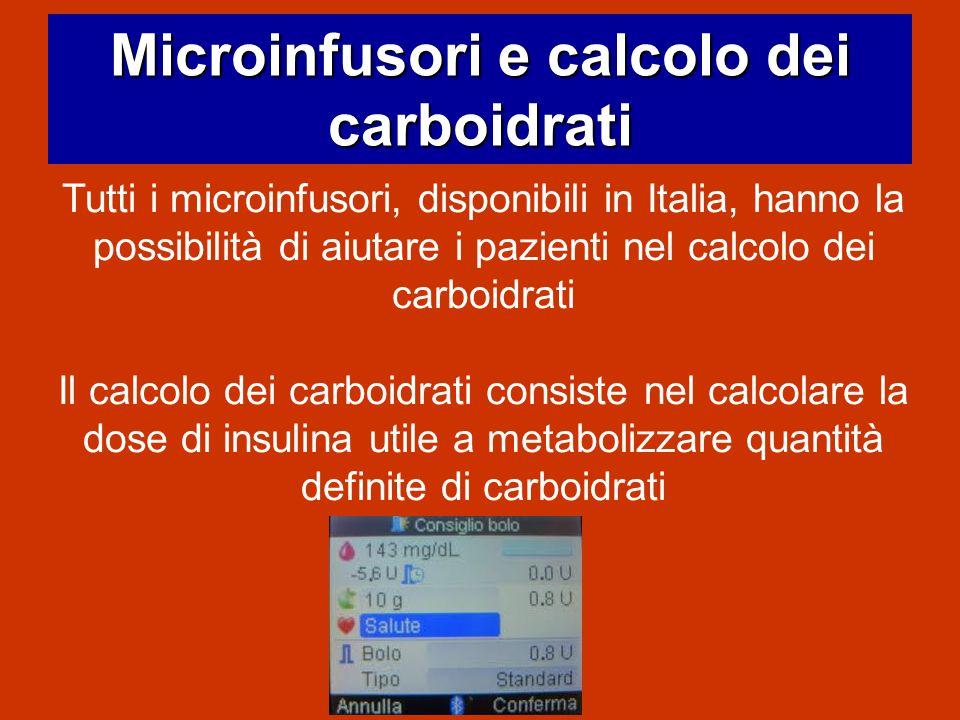 Microinfusori e calcolo dei carboidrati