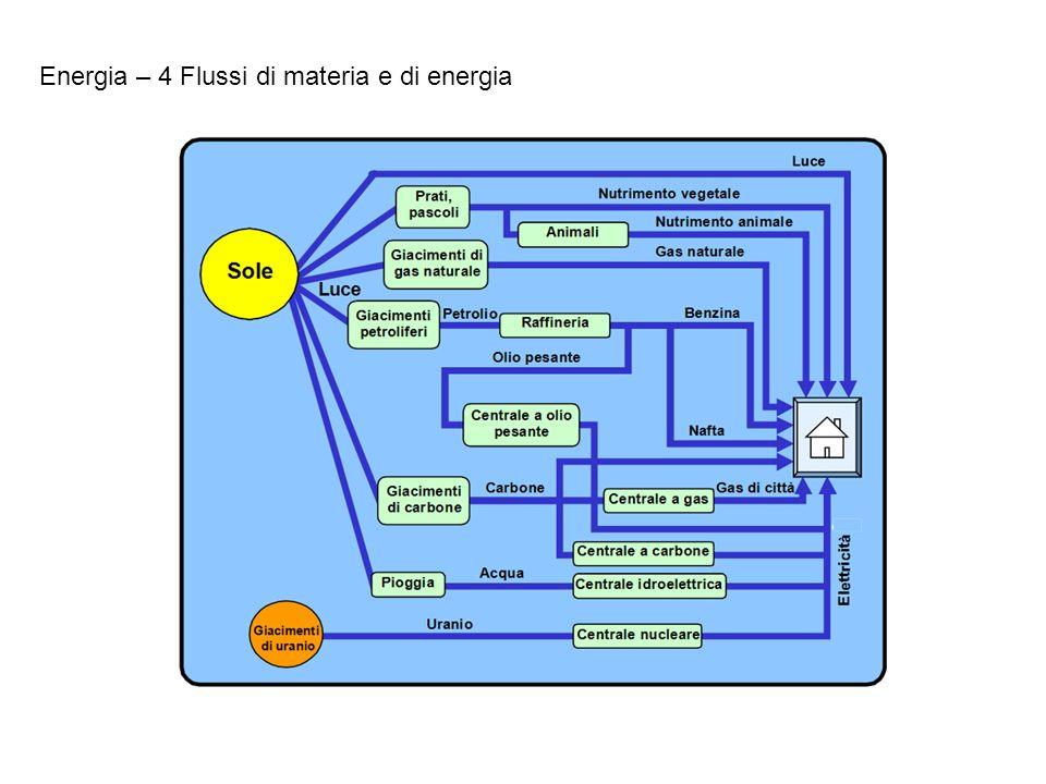 Energia – 4 Flussi di materia e di energia