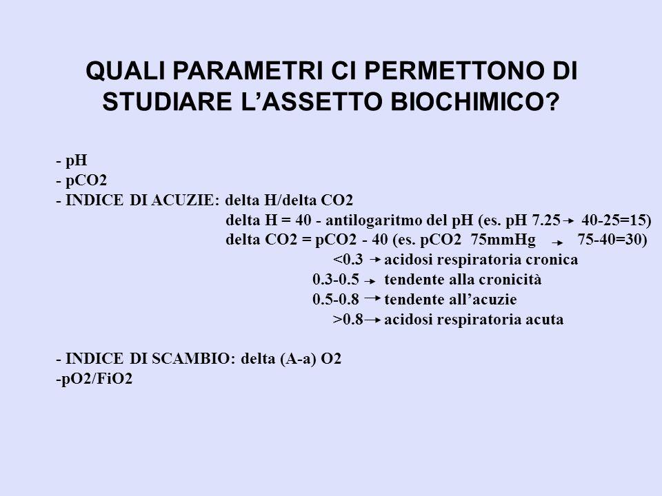 QUALI PARAMETRI CI PERMETTONO DI STUDIARE L'ASSETTO BIOCHIMICO
