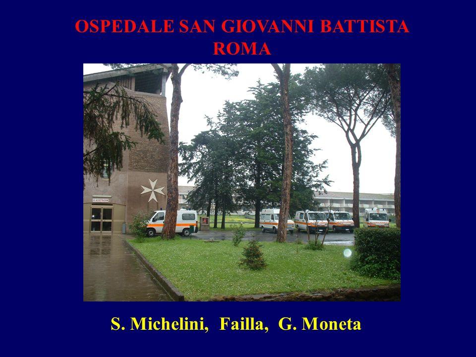 OSPEDALE SAN GIOVANNI BATTISTA ROMA S. Michelini, Failla, G. Moneta